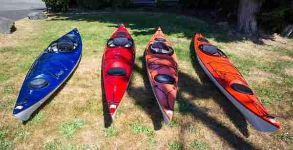 A selection of Exotic Aquatics Kayaks