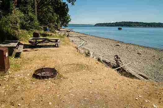 Blake Island Kayak Campground