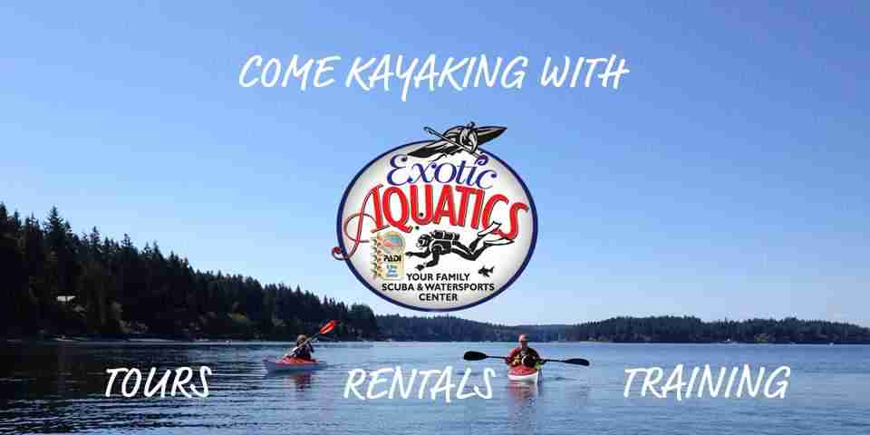 Come Kayaking with Exotic Aquatics, offering tours, rentals, and training
