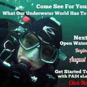 The August Open Water class starts soon! Get signed up now!