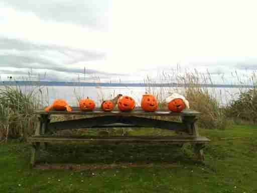 Underwater Jack-o-Lantern Carving Contest